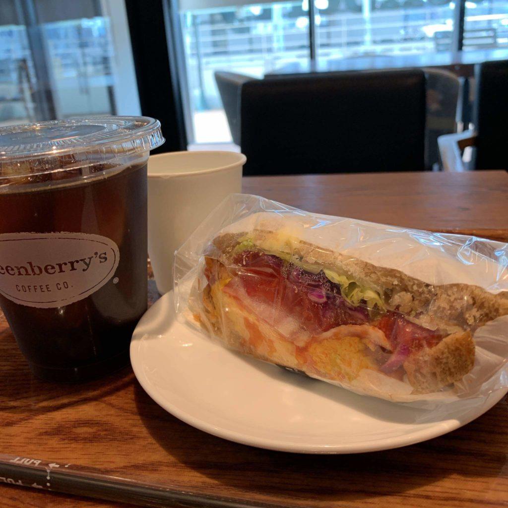 カジュアルカフェ【Greenberry's COFFEE 】
