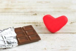 チョコとハート